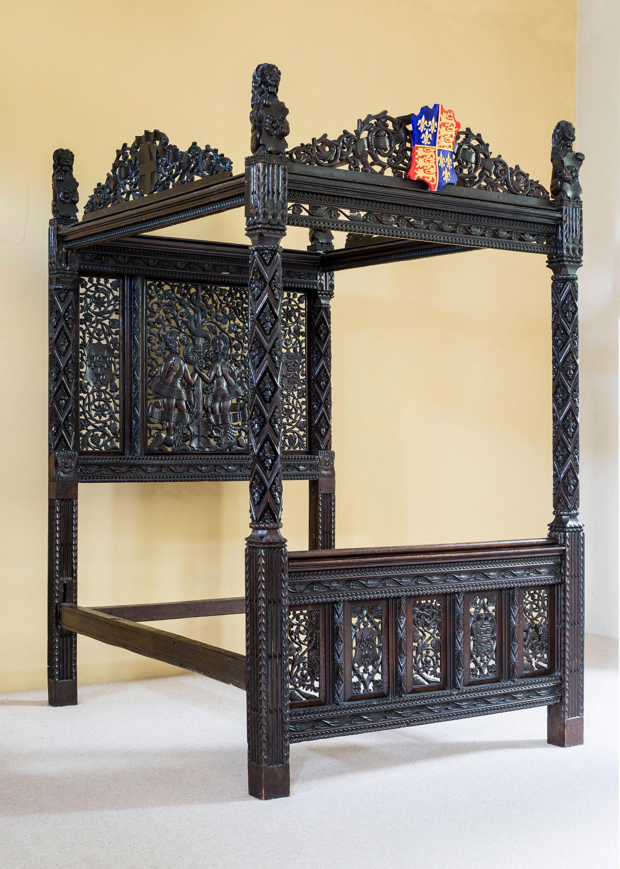 A cama pertencia ao rei inglês Henrique VII (Foto: Divulgação/The Langley Collection)