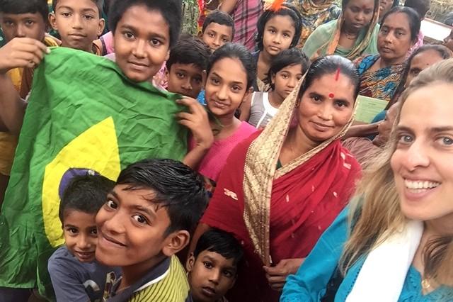 Ana Maria Drummond em Bangladesh (Foto: Acervo pessoal)
