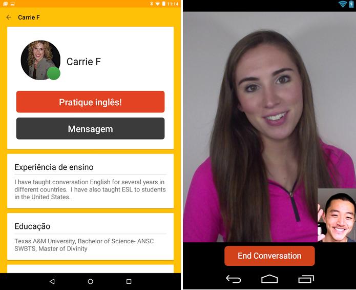 Cambly é um app para conversar com estrangeiros e praticar línguas (Foto: Reprodução) (Foto: Cambly é um app para conversar com estrangeiros e praticar línguas (Foto: Reprodução))