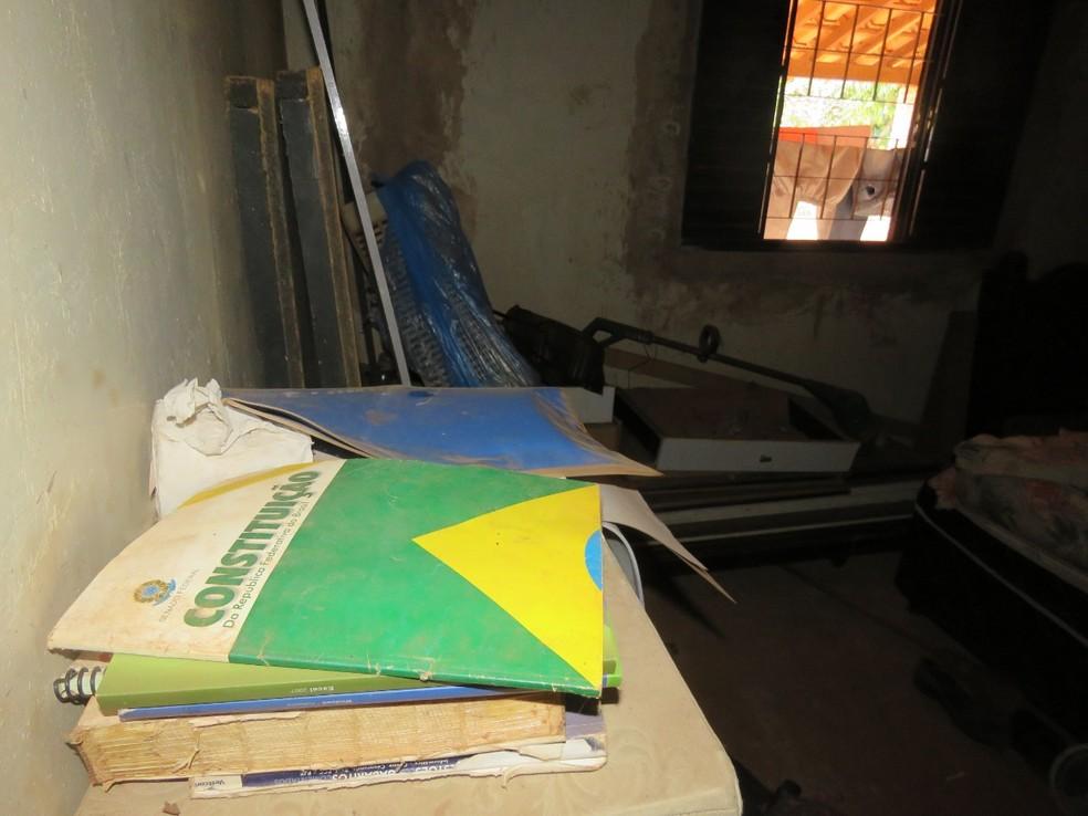 Imóvel onde vivia mulher de 48 anos resgatada de condições análogas à escravidão, no Entorno do DF — Foto: Inspeção do Trabalho/Ministério da Economia