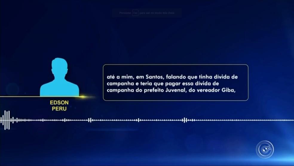 Seis vereadores de Várzea Paulista foram citados por assessor político de Santos — Foto: TV TEM/Reprodução