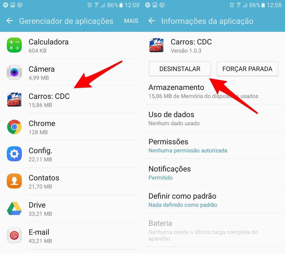 """""""WhatsApp só recebe mensagem quando abro?"""" Desinstale os aplicativos de melhoria de desempenho baixados no celular — Foto: Reprodução/Lucas Mendes"""