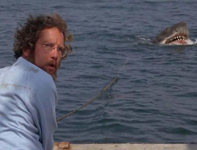 O ator Richard Dreyfuss em cena do clássico Tubarão (1975) (Foto: Reprodução)