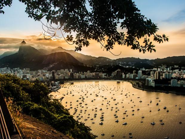 pôr do sol no Rio de Janeiro (Foto: Diego Tovar)