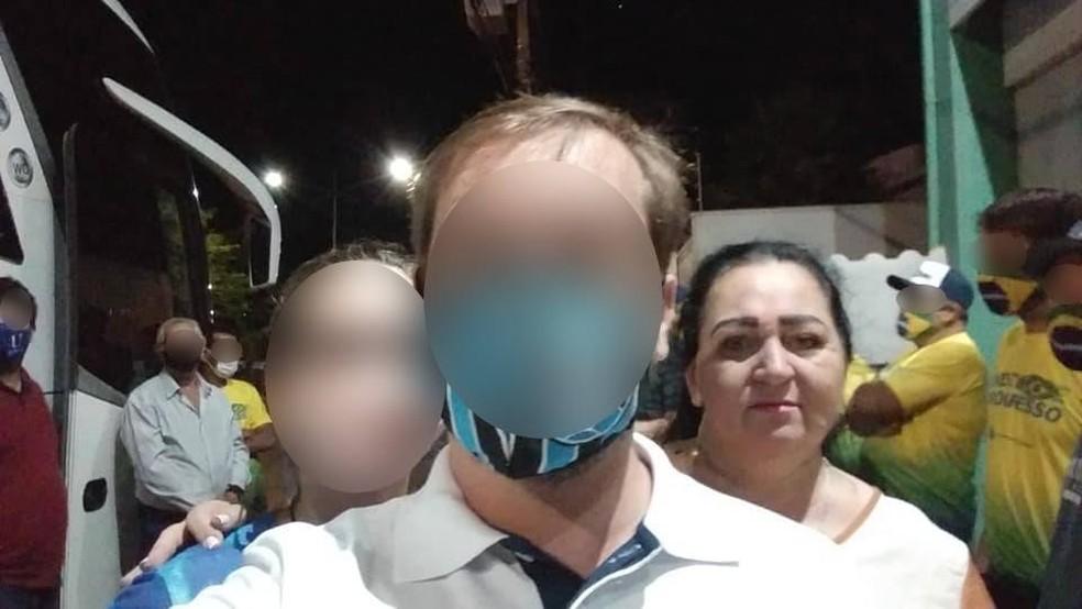 Servidora aposentada Jane Elisabete Toniasso morreu de Covid-19 cinco dias após participar do ato pró-Bolsonaro em Brasília, no dia 15 de maio — Foto: Facebook