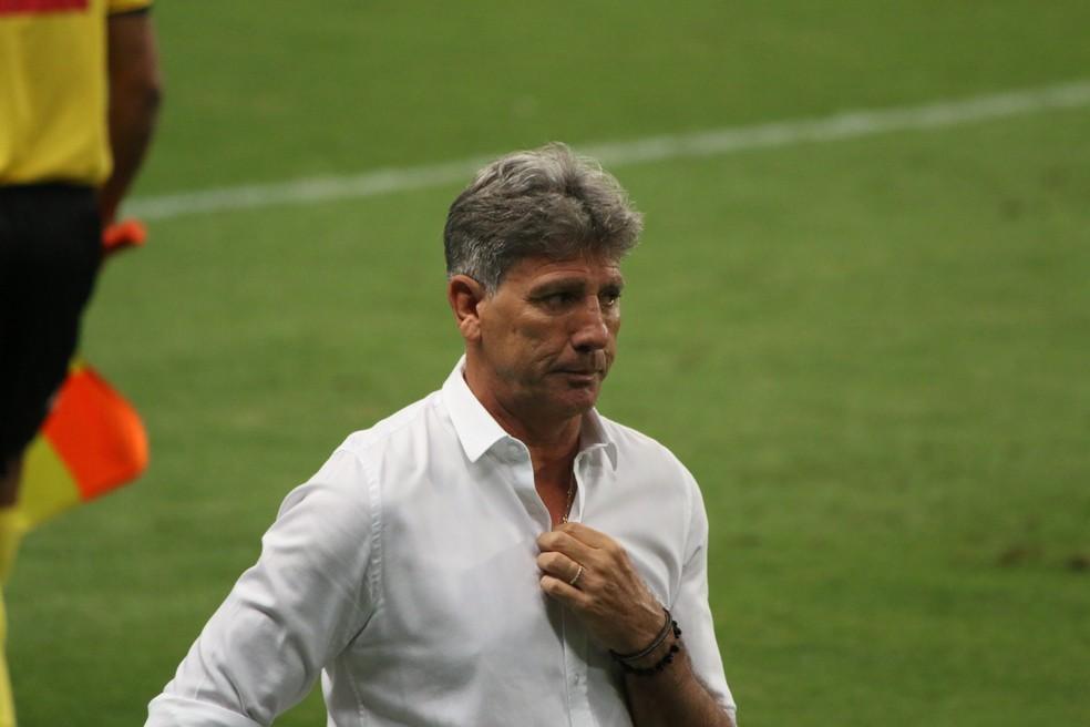 Renato Portaluppi, técnico do Grêmio — Foto: Eduardo Moura/ge