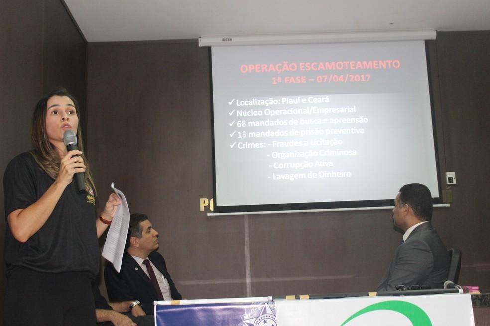 Promotora apresentava resultados de operação realizada em Cocal (Foto: Gilcilene Araújo/G1)