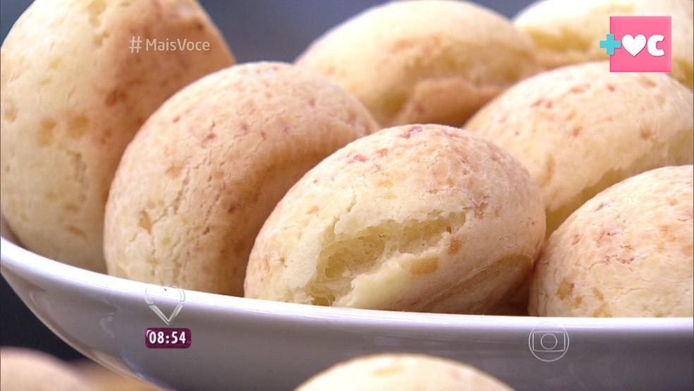 Pão de Queijo do 'Mais Você — Foto: TV Globo