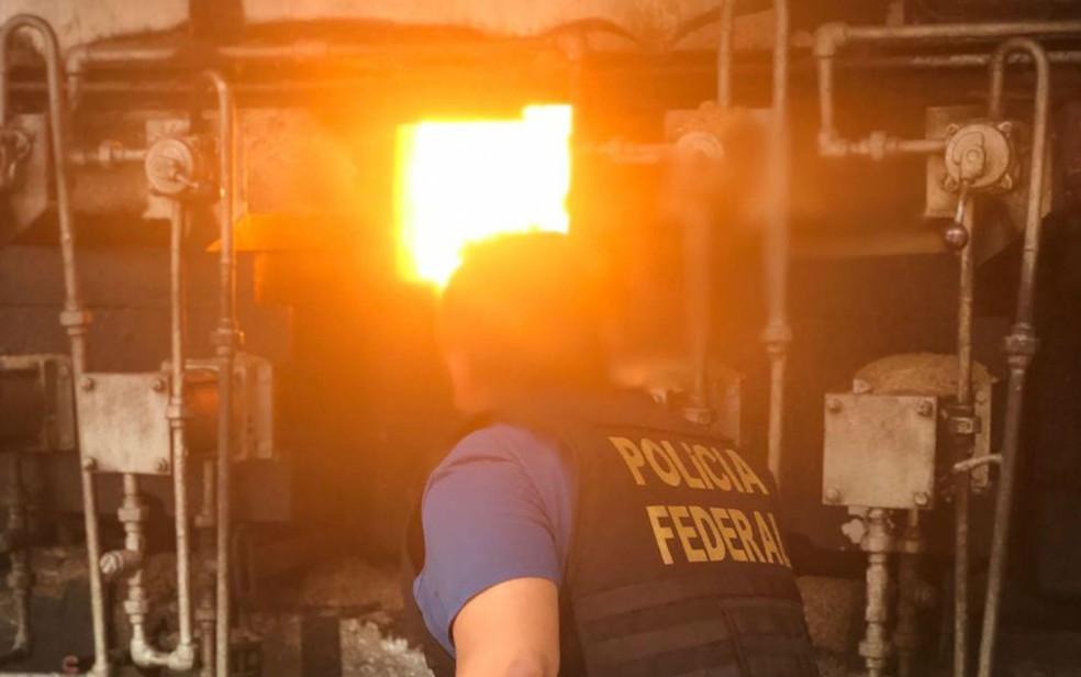 Droga foi incinerada na tarde desta segunda em Juazeiro — Foto: Divulgação/PF