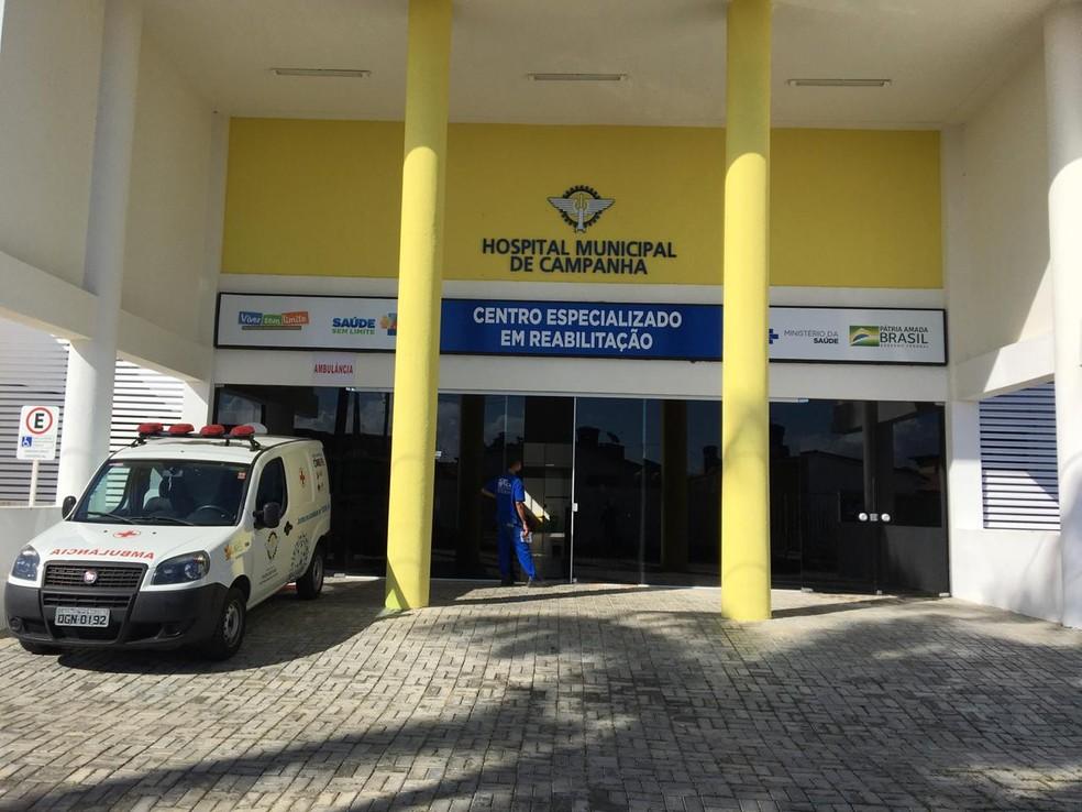 Hospital de Campanha de Parnamirim — Foto: Quezia Oliveira/Inter TV Cabugi