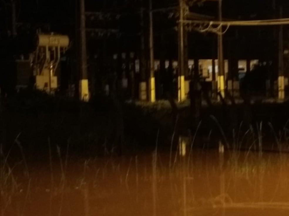 Chuva atingiu Timbó e comprometeu fornecimento de energia elétrica  — Foto: Celesc/ Divulgação