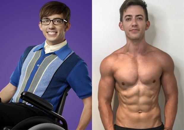 O antes e depois de Kevin McHale (Foto: Divulgação e Reprodução/Ultimate Performance)