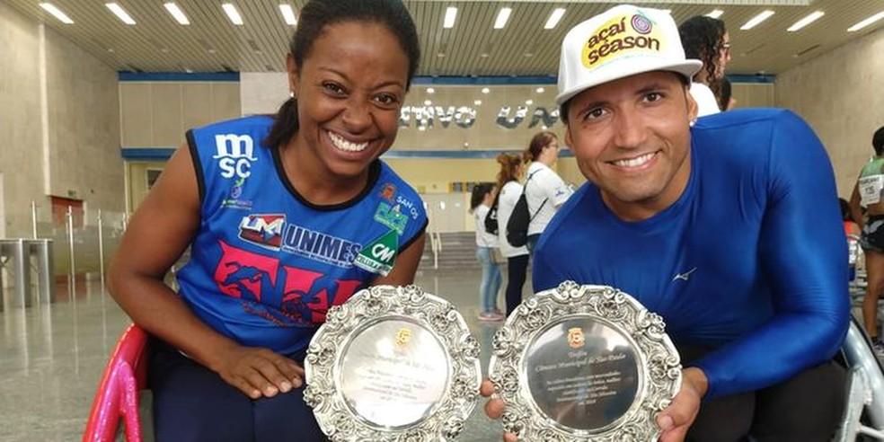 Vanessa Cristina e Heitor Mariano venceram novamente a São Silvestre — Foto: Divulgação