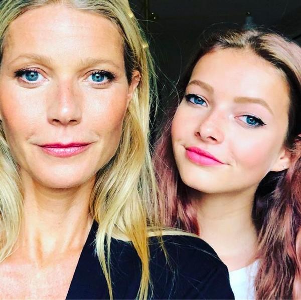 A foto compartilhada pela atriz Gwyneth Paltrow ao lado da filha Apple (Foto: Instagram)