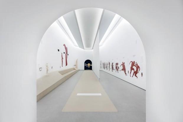 Μέσα στο νέο Ολυμπιακό Μουσείο, οι πόρτες του είναι πλέον ανοιχτές (Φωτογραφία: Mariana Bisti)