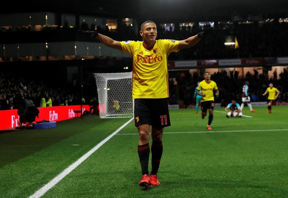Richarlison trocou o Fluminense pelo Watford no ano passado e teve rápida adaptação ao futebol inglês (Foto: Reuters)