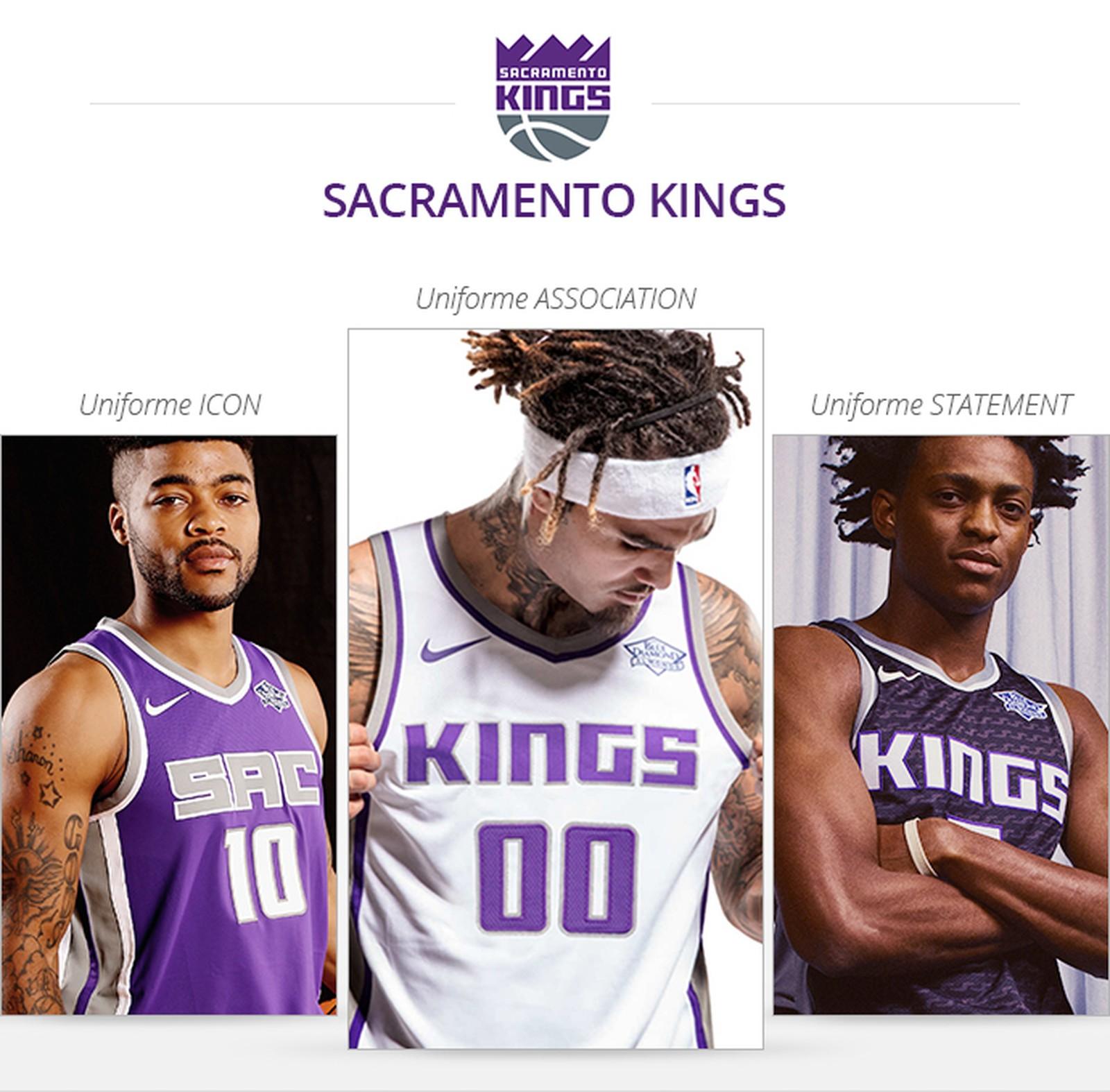 Uniformes Sacramento Kings saison 2017/18
