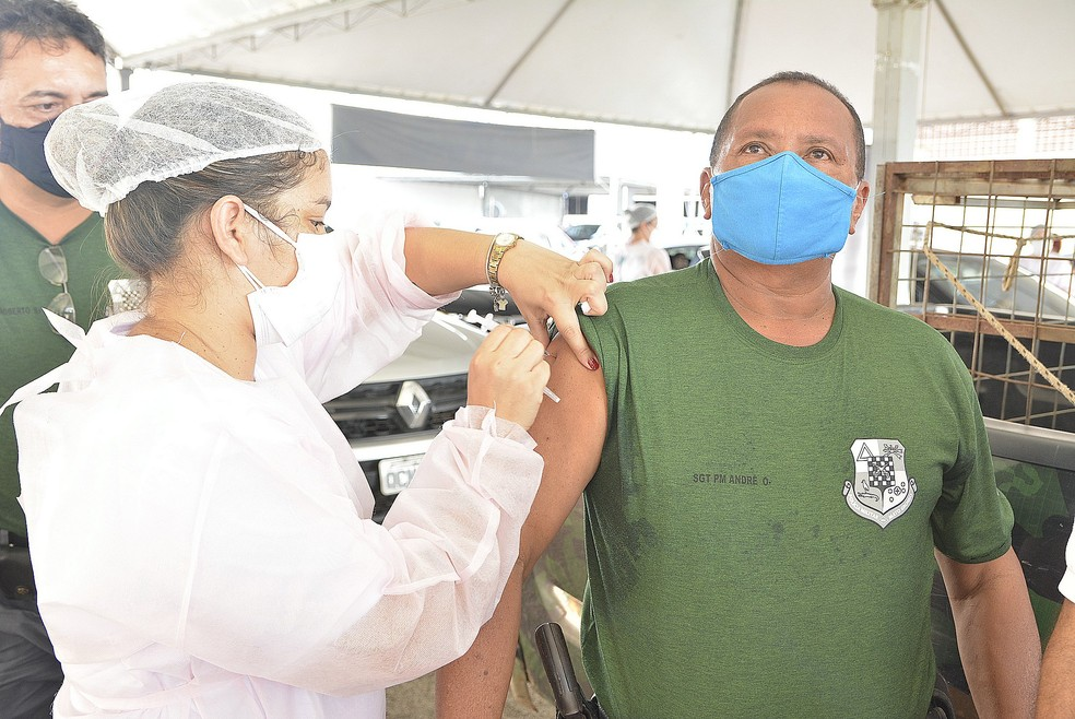 Vacina contra a Covid-19 em Várzea Grande — Foto: Prefeitura de Várzea Grande