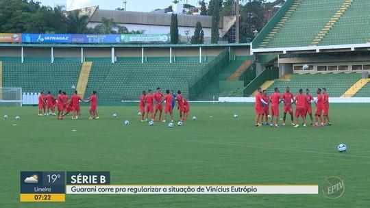 Guarani corre para ter Vinícius Eutrópio no banco de reservas na estreia da Série B