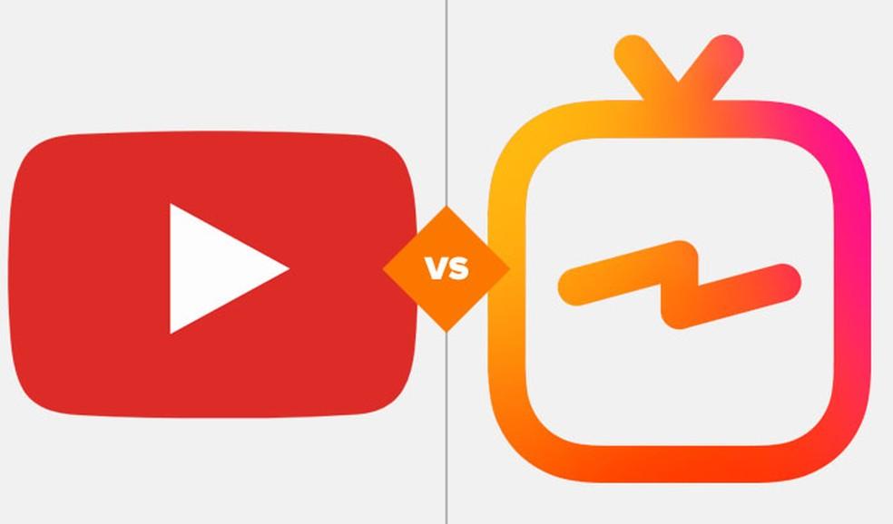 963bedf40 ... Comparativo mostra diferenças entre YouTube e IGTV — Foto  Arte TechTudo