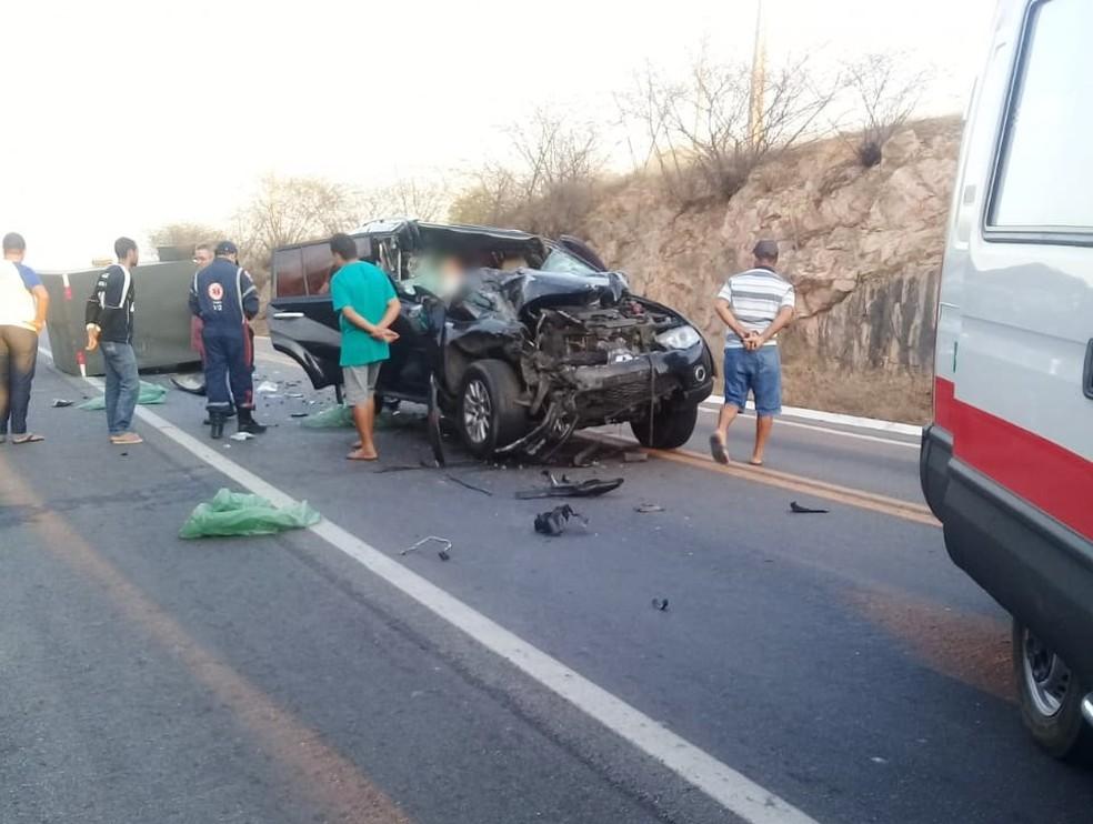 Uma pessoa morreu no acidente — Foto: Redes sociais