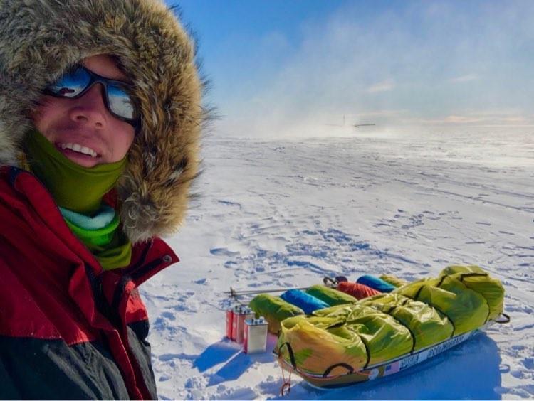Colin O'Brady postou essa foto no seu segundo dia de viagem pela Antártida.  (Foto: Instagram / Colin O'Brady)