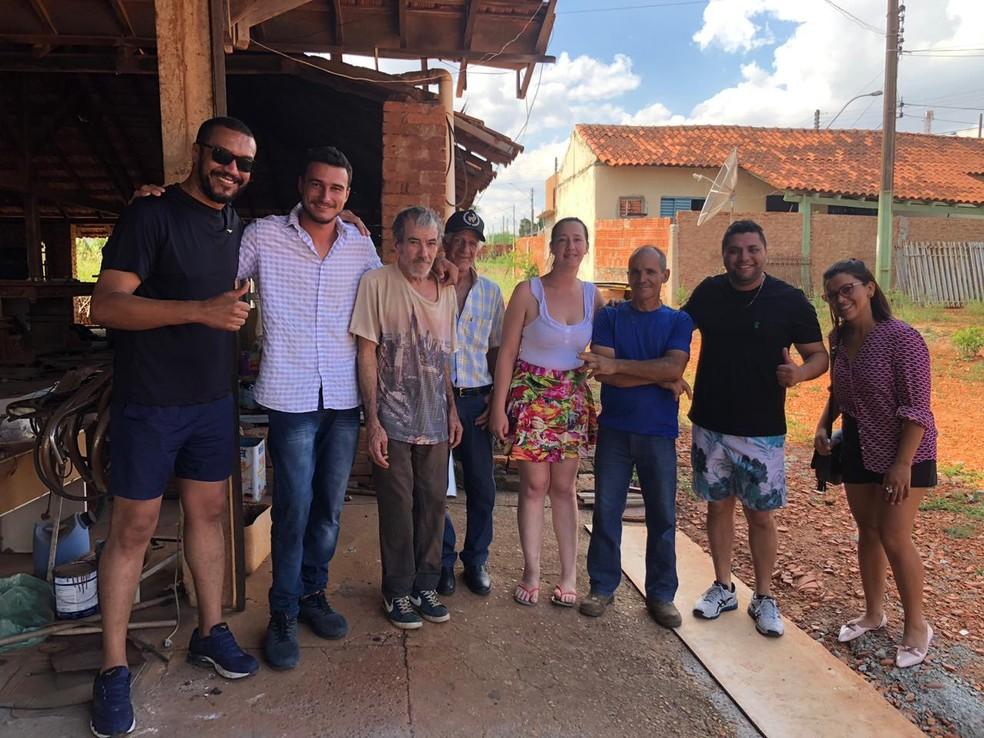 Seu Zé reencontrou a família depois de 30 anos desaparecido e história emocionou moradores de Barra Bonita — Foto: Arquivo pessoal/Marcelo Cândido dos Santos