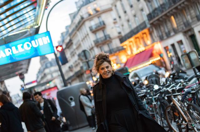 Bárbara Paz em Paris (Foto: Arquivo pessoal)