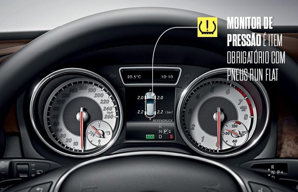 Com pneus run flat o alerta de perda de pressão é obrigatório (Foto: Otávio Silveira/Autoesporte)