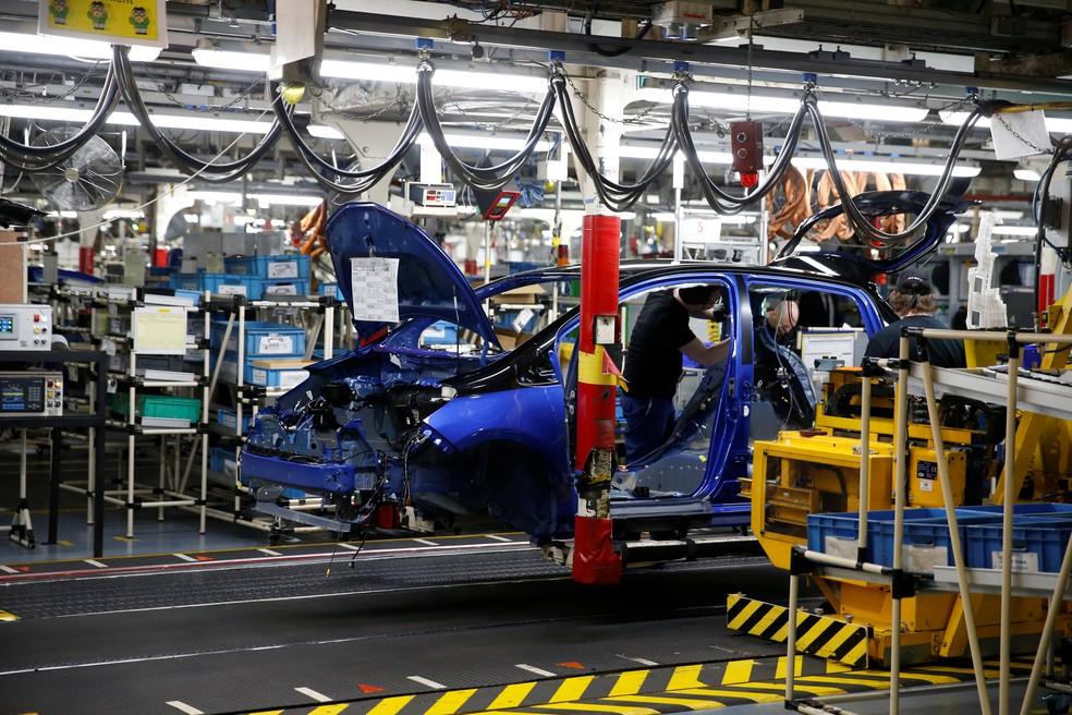 Produção de veículos no Brasil (Foto: Pascal Rossignol/Reuters)