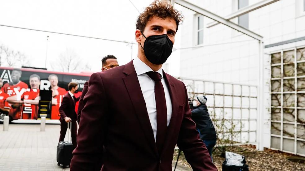 Goretzka foi relacionado para a viagem a Paris com o Bayern, mas não deve ser titular — Foto: Reprodução / Site oficial do Bayern