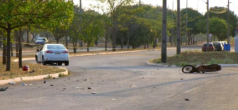 Número de acidentes registrados em Palmas esse ano foi maior do que o dos últimos três anos — Foto: Reprodução/TV Anhanguera