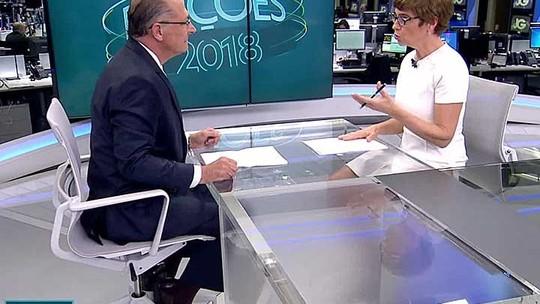ASSISTA à entrevista de Geraldo Alckmin ao Jornal da Globo
