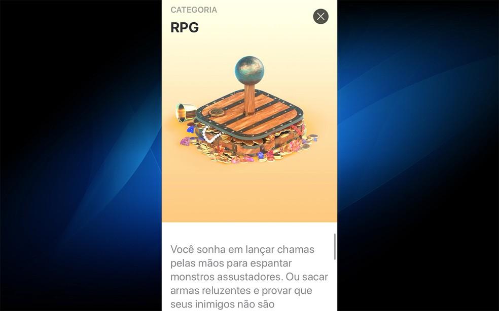 Os jogos baixados no Apple Arcade vão para a memória do celular — Foto: Reprodução/Felipe Vinha
