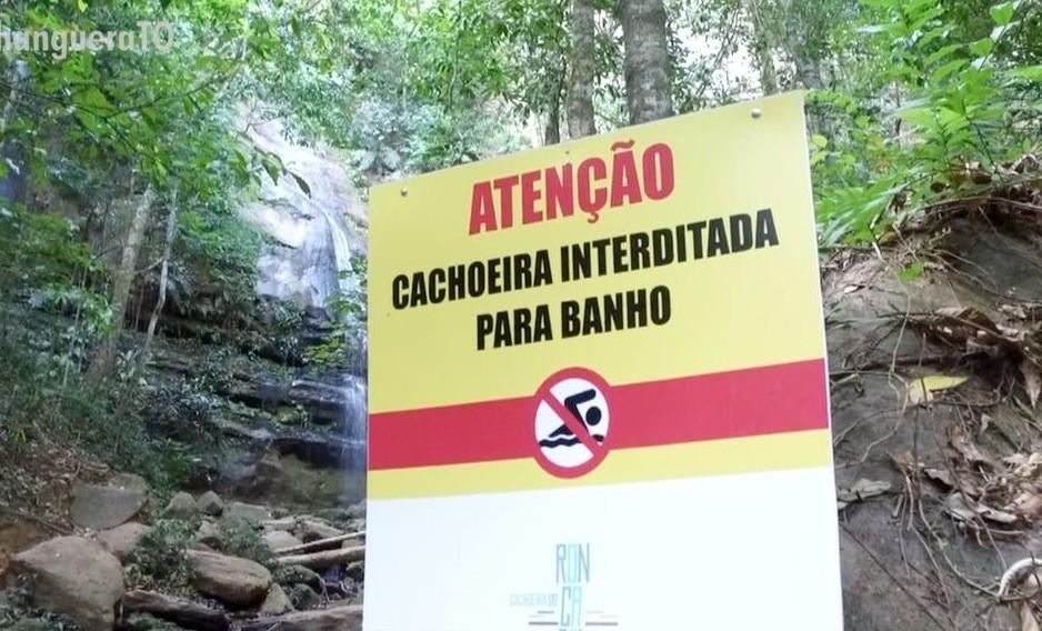 Estiagem de mais de 100 dias faz cachoeira ser interditada para turistas em Palmas - Notícias - Plantão Diário