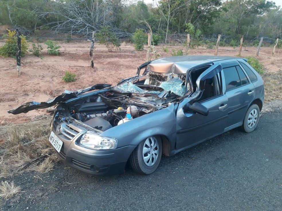 Motorista morre após colidir na traseira de um caminhão na BR-226 no MA (Foto: Divulgação/Polícia Rodoviária Federal)