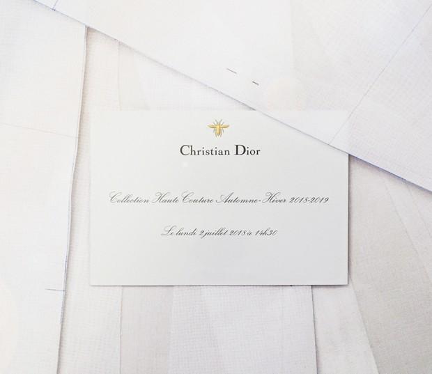 Convite do desfile da Dior em Paris (Foto: Divulgação)