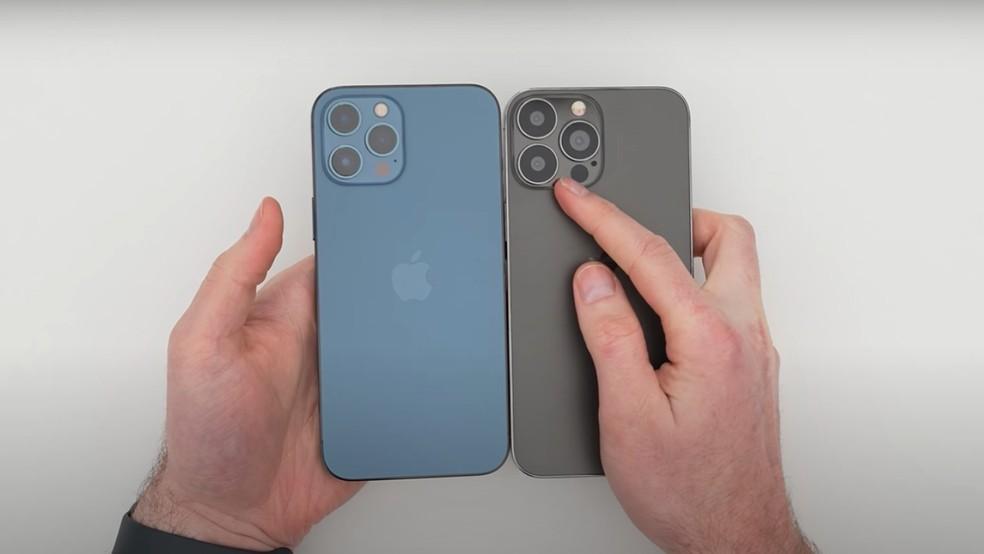 Réplica mostra como pode ser design do iPhone 13 — Foto: Reprodução/Unbox Therapy