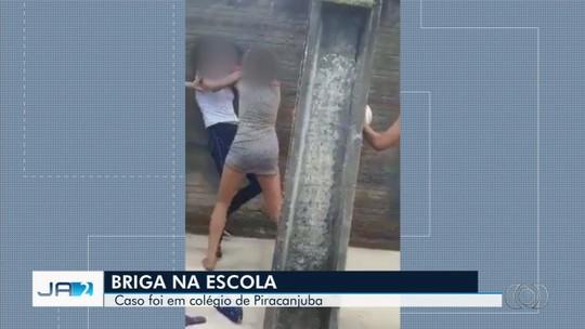 Vídeo mostra adolescentes brigando na porta de escola pública de Piracanjuba