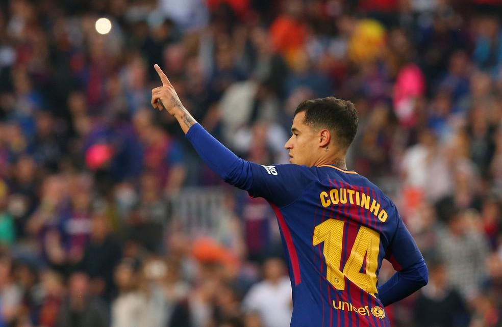 Philippe Coutinho vinha jogando com a camisa 14 no Barcelona (Foto: REUTERS/Albert Gea)