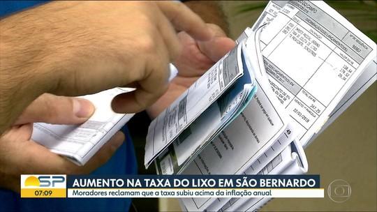 Moradores de São Bernardo do Campo reclamam de aumento acima da inflação na taxa do lixo