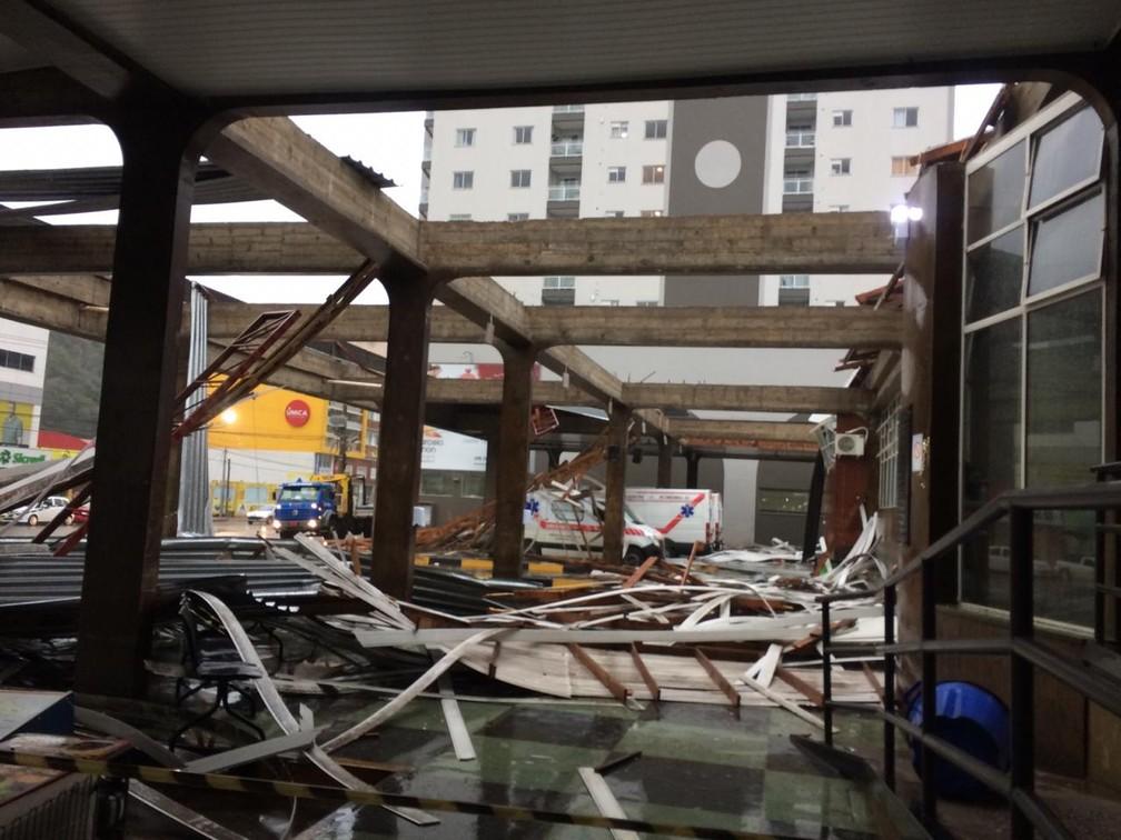 Estragos causados pelo temporal em Concórdia — Foto: Prefeitura de Concórdia/ Divulgação
