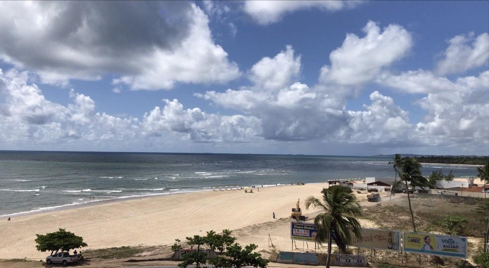 Praia de Barra de Jangada fica em Jaboatão — Foto: Eddie Rodrigues/Reprodução/WhatsApp