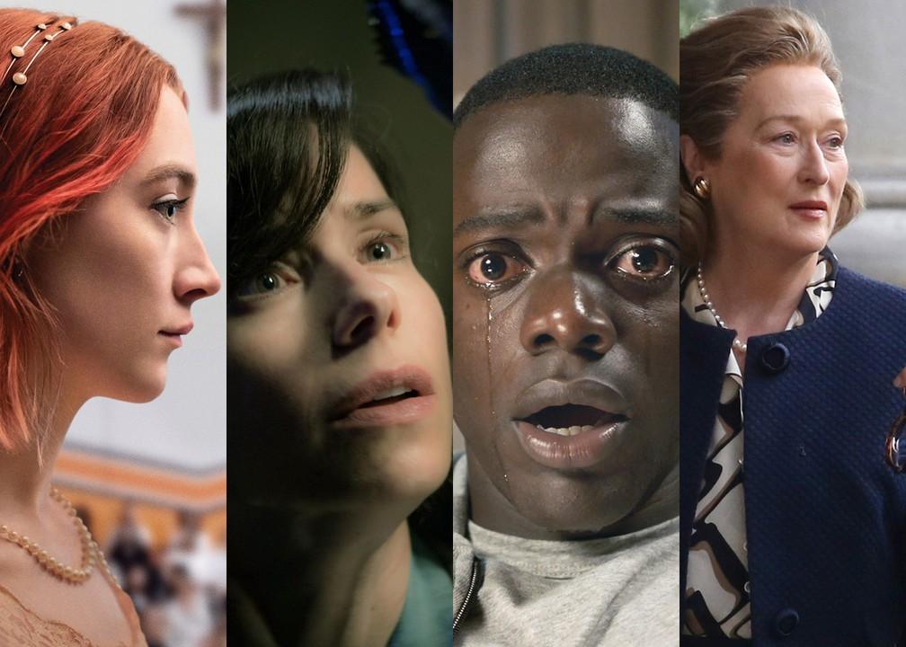 'Lady Bird', 'A Forma da Água', 'Corra!' e 'The Post' estão entre os indicados ao Oscar (Foto: Divulgação)