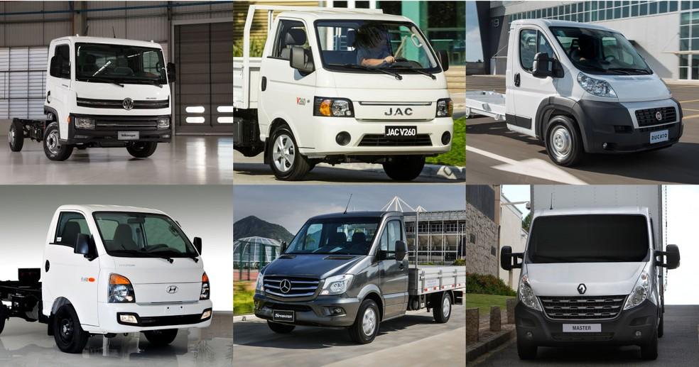 Caminhões que podem ser conduzidos com habilitação do tipo B (Foto: Divulgação)