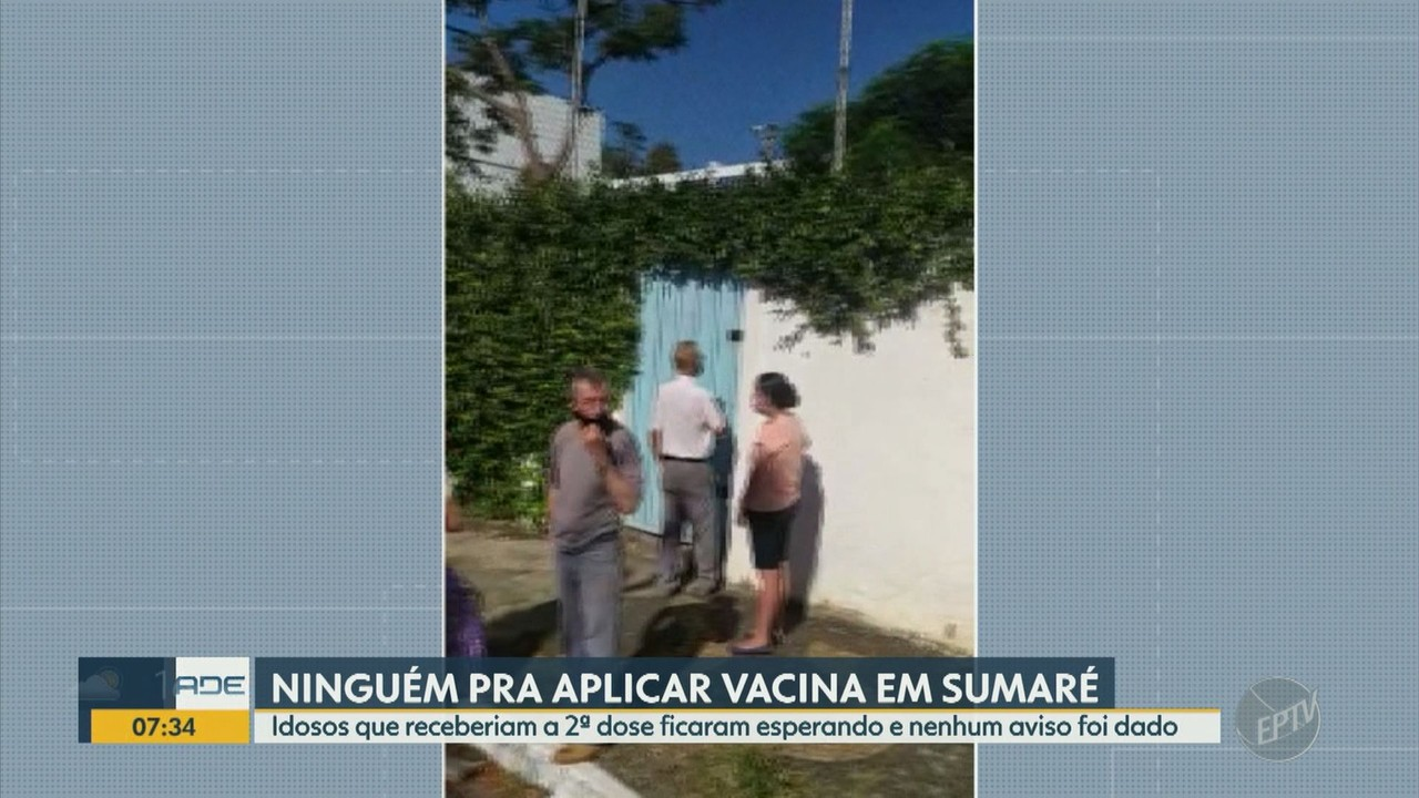 Falta de profissionais em Sumaré faz idosos ficarem esperando para receber a 2ª dose