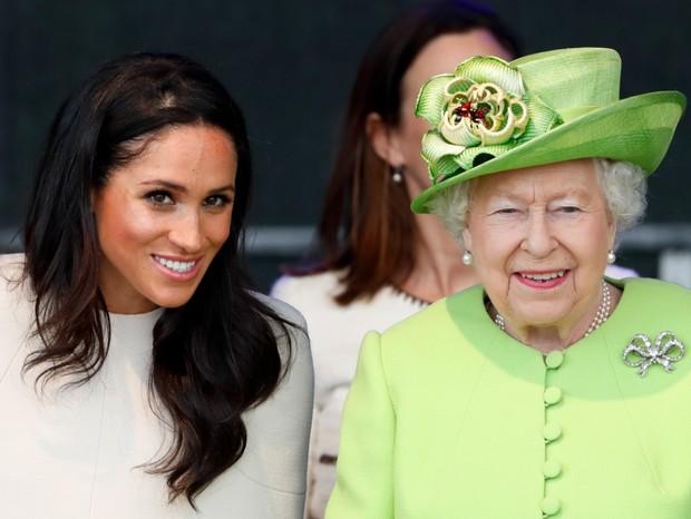 Meghan Markle e a rainha Elizabeth II  (Foto: Getty)
