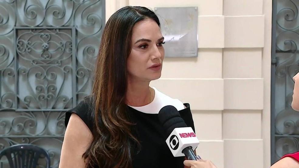 Luiza Brunet em imagem de 2019 — Foto: Reprodução/Globonews