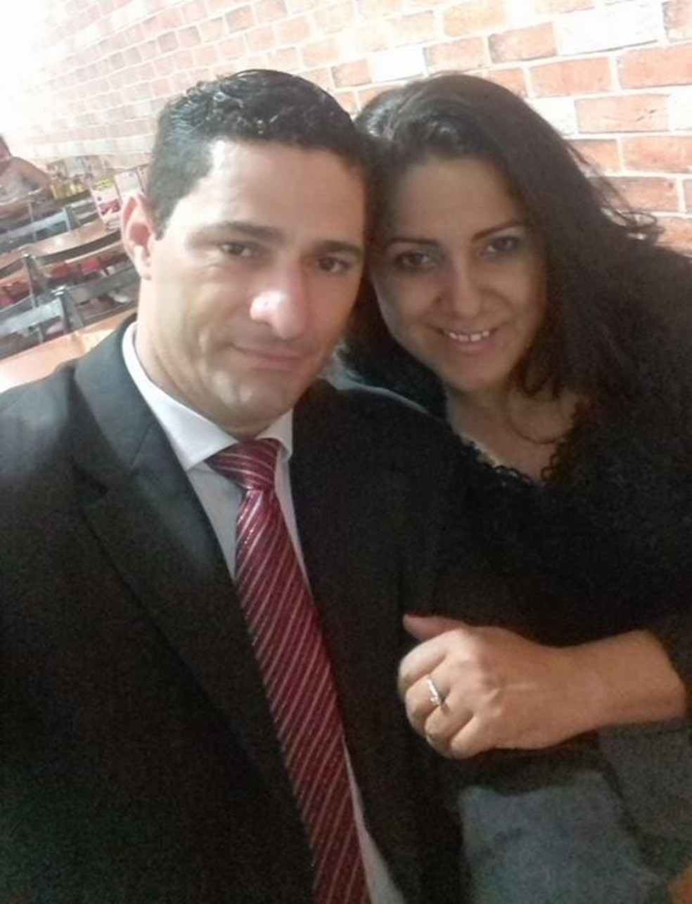 Joselita e Ueliton ficaram juntos por três anos.  — Foto: Facebook/Reprodução