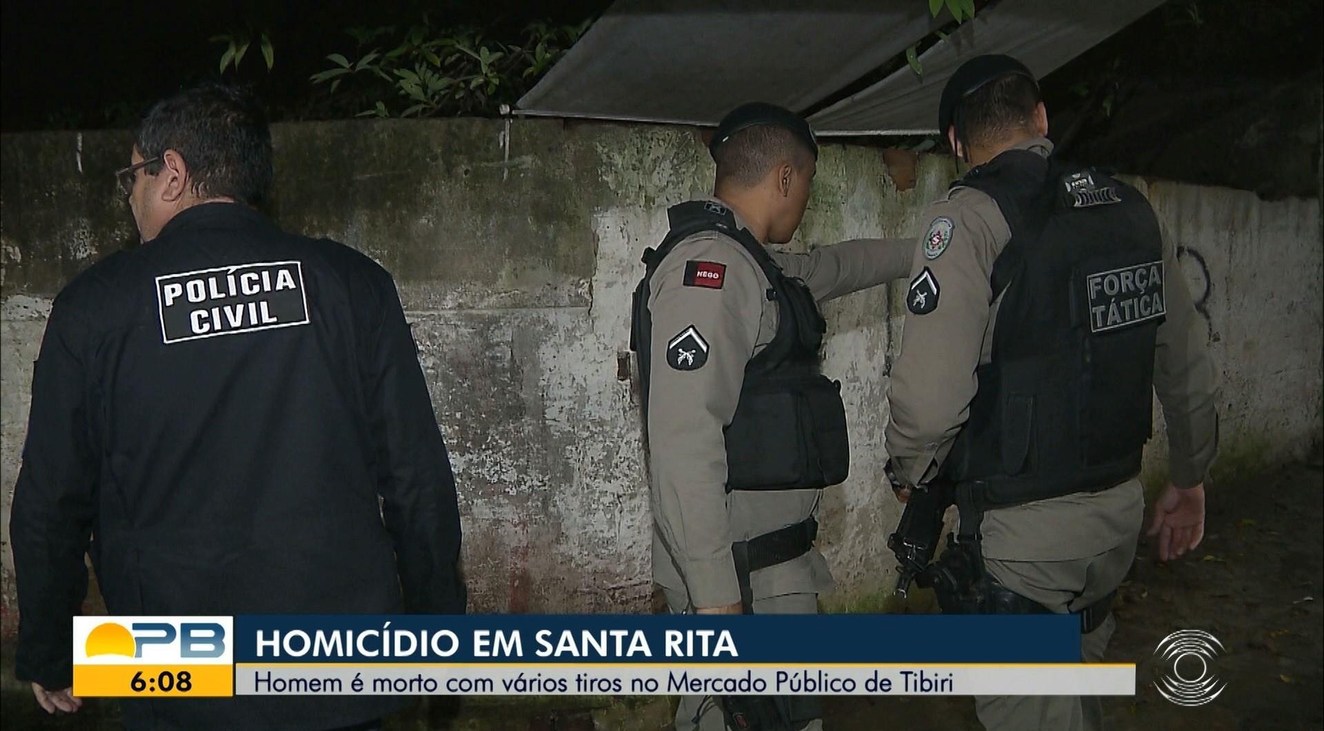 Vigilante é morto a tiros em mercado público de Santa Rita, na PB - Notícias - Plantão Diário